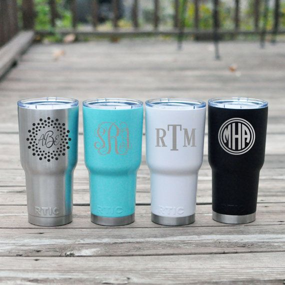 Engraved Yeti Cup Monogrammed Rtic Tumbler Laser