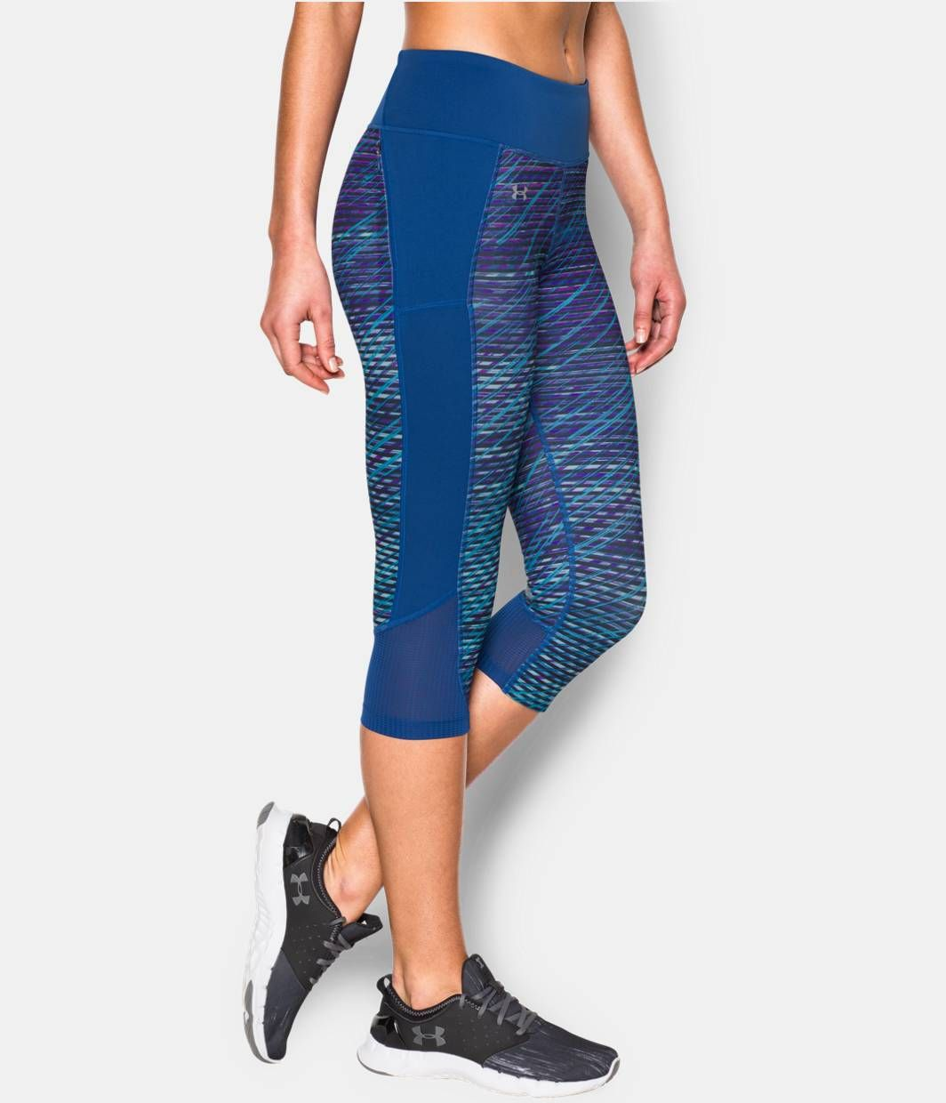 781bca4f25 Shop Under Armour for Women s UA Fly-By Printed Run Capri in our Womens  Bottoms department. Free shipping is available in US.