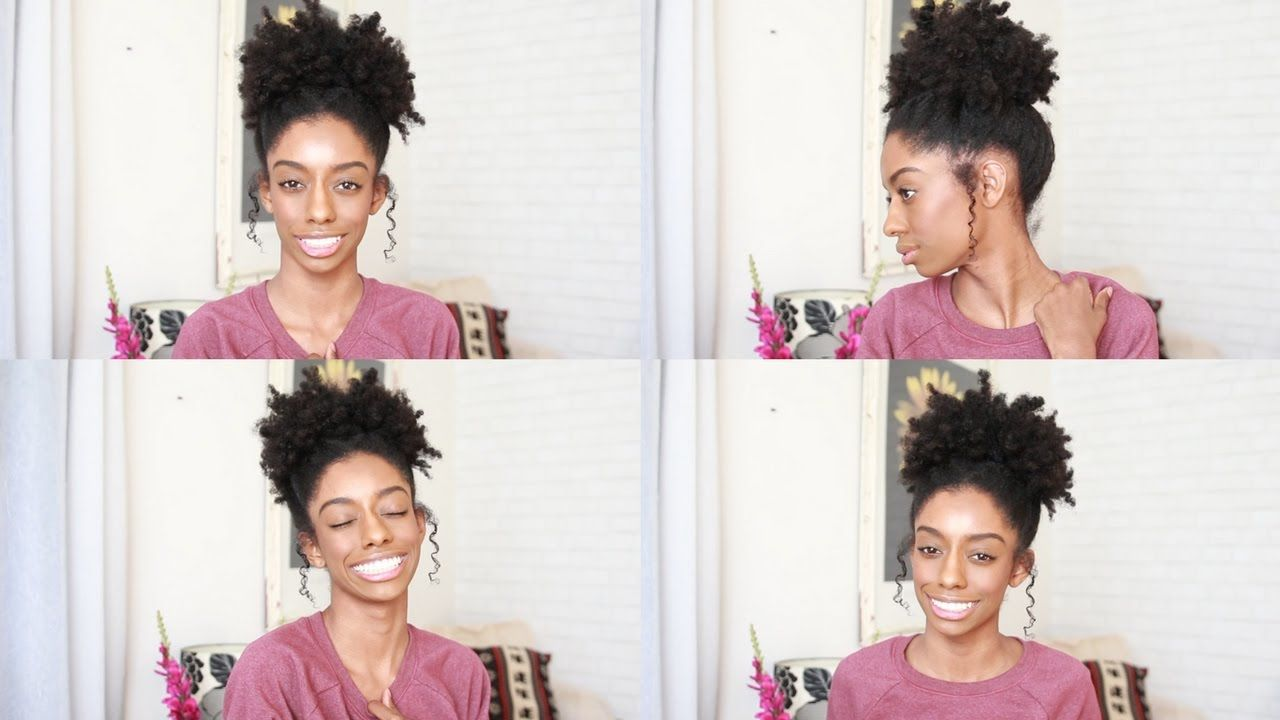 Fancy Puff Easy Simple 4c Natural Hairstyles For Short Medium