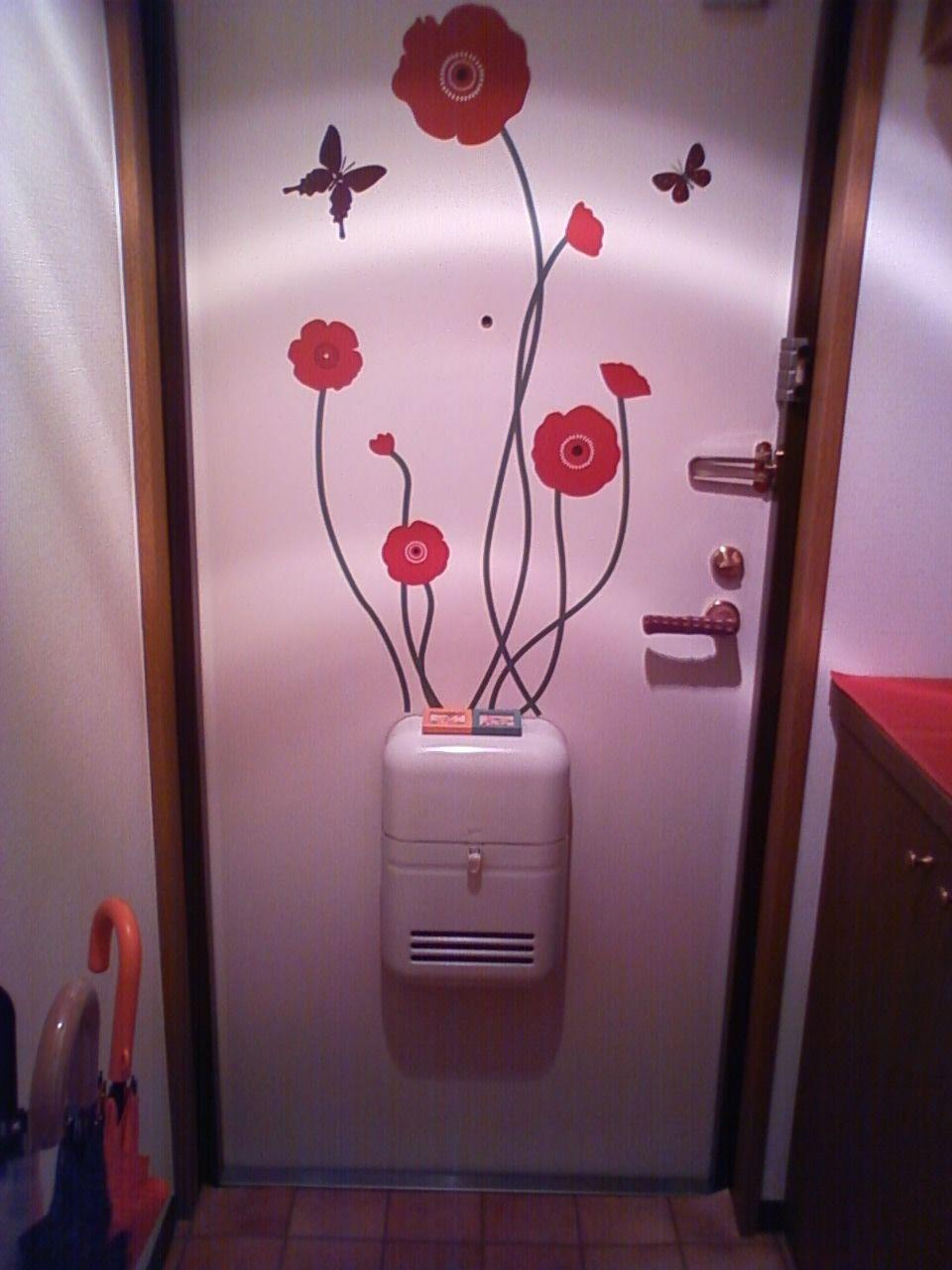 郵便受けからお花が生えたようなイラスト おしゃれで楽しい玄関に