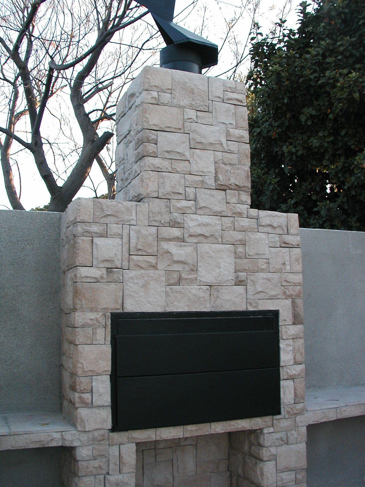 Brick Outside Fireplace