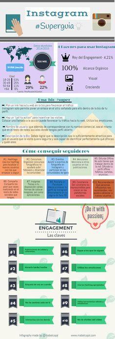 guía de instagram en español infografia