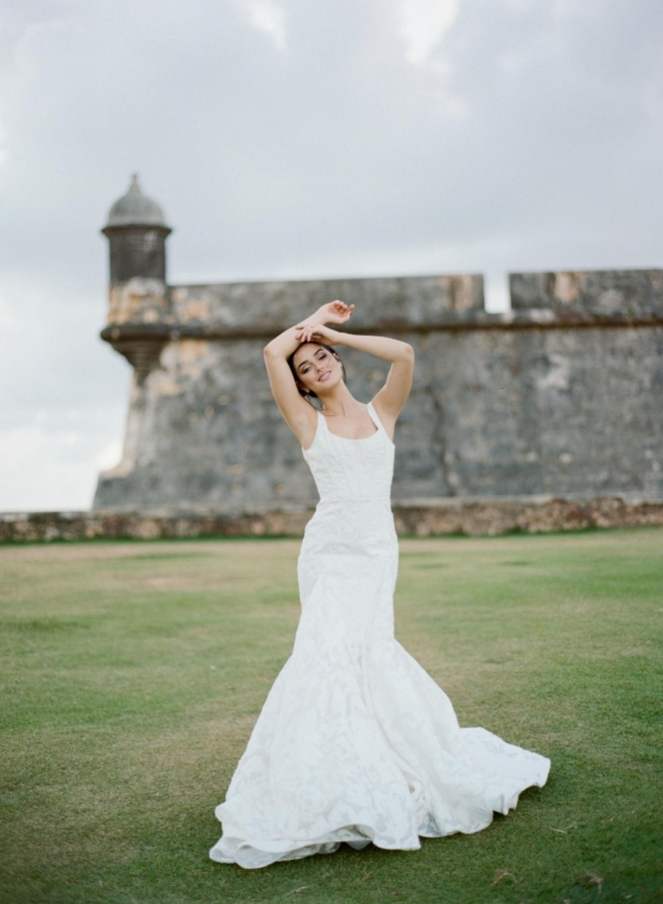 Inspiration Triteia In Puerto Rico Groom Attire Sleeveless Wedding Dress Wedding Dresses