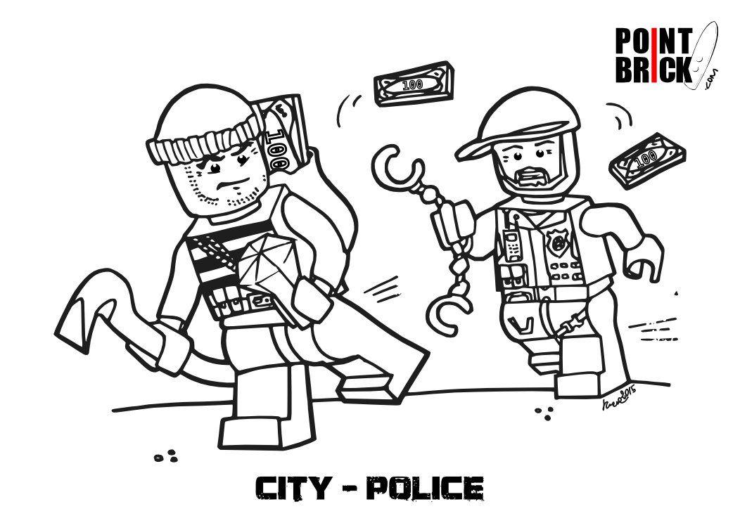 Disegni Da Colorare Lego City Polizia E Pompieri
