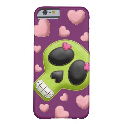Green Sugar Skull Barely There, iPhone6 Case