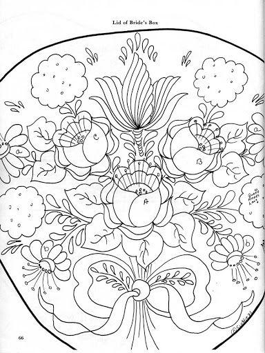 bavarian folk art coloring pages - photo#16