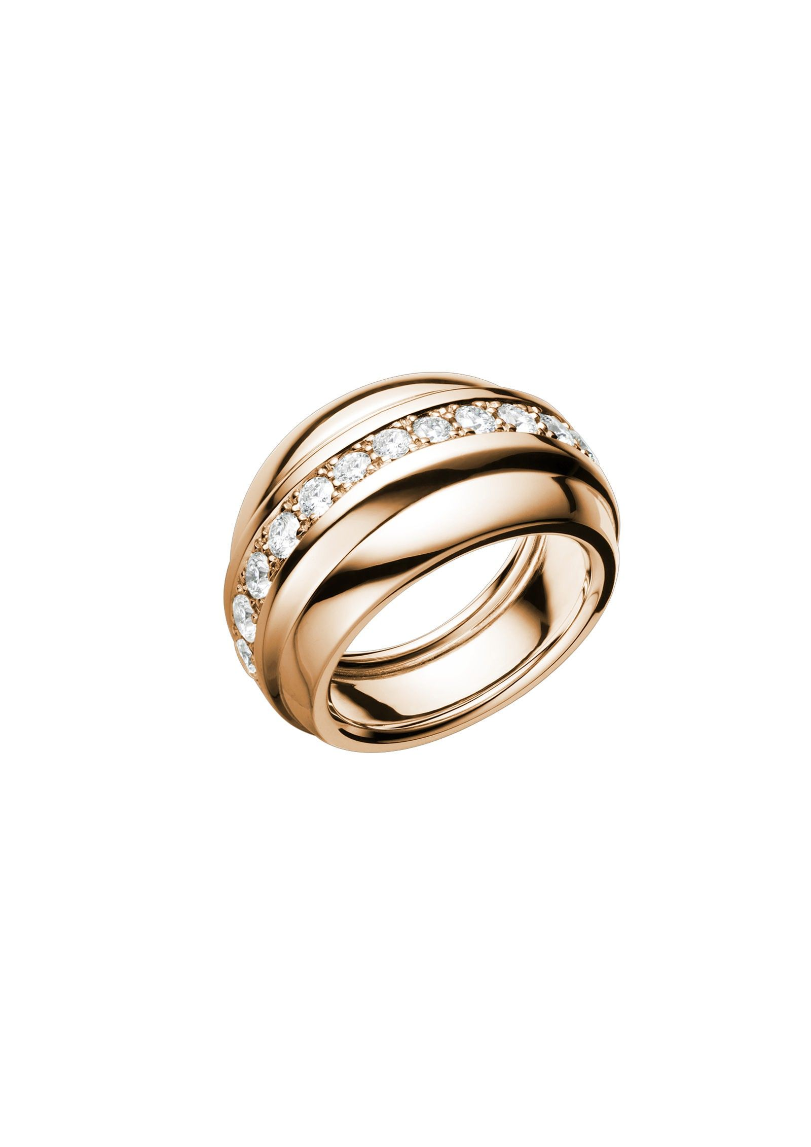 With its simple lines and refined curves this La Strada ring in