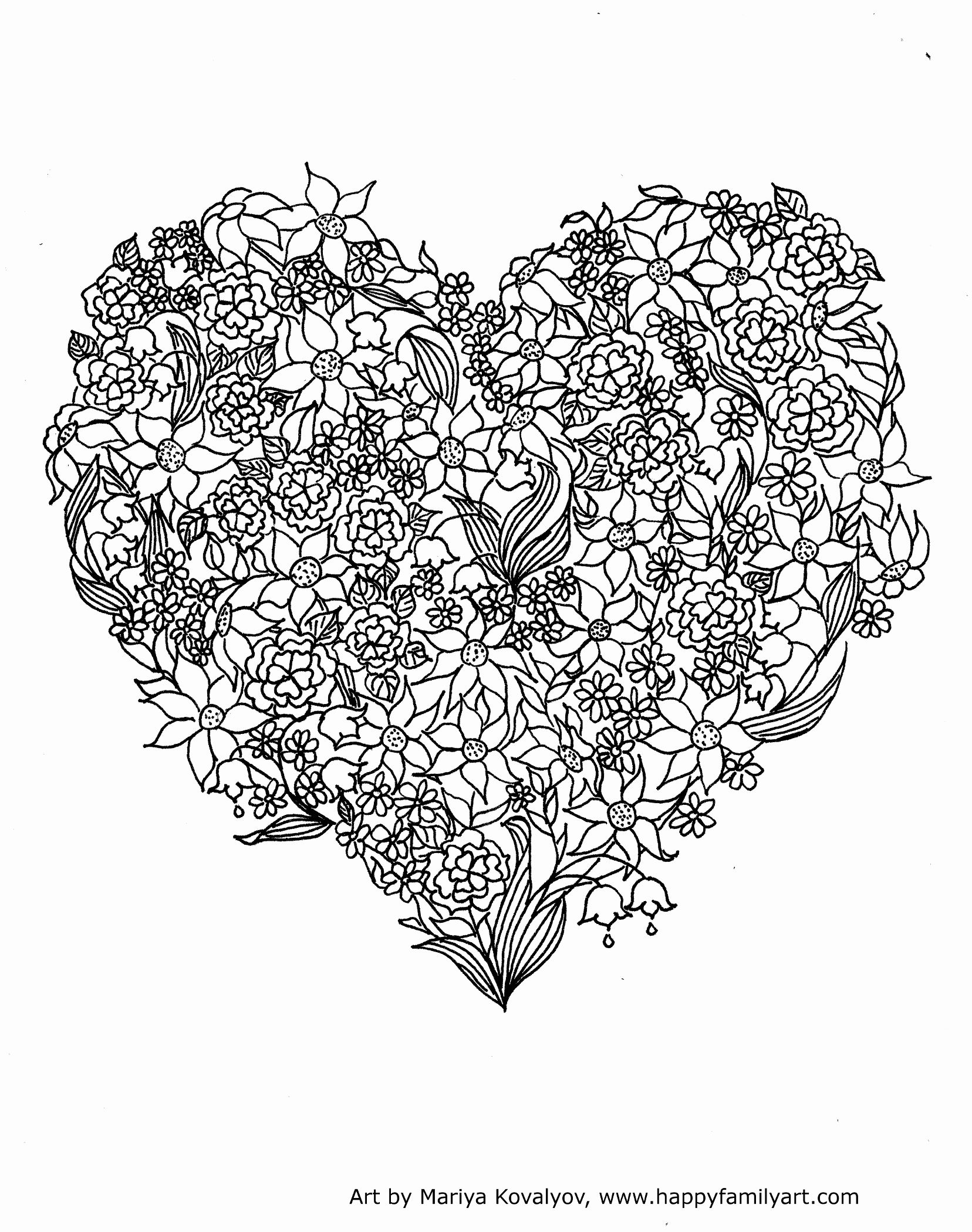 Coloring Pages for Hard Drawing for Kids Heart for Moms ...