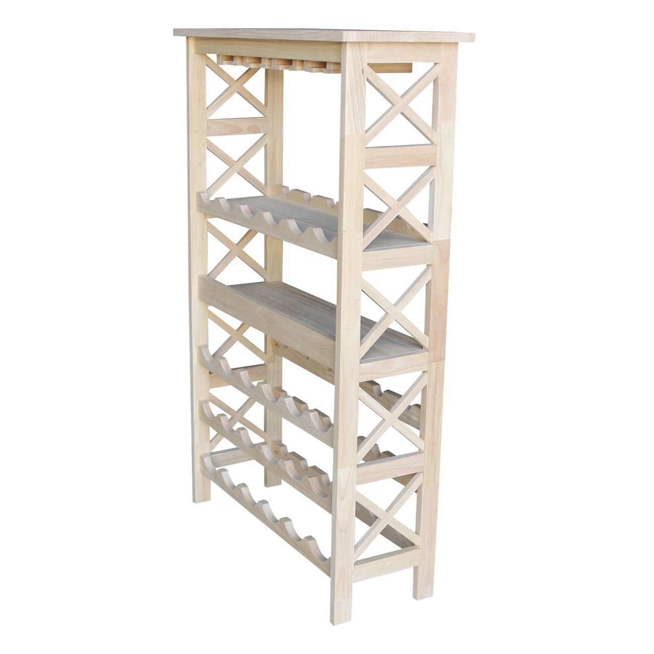 3070x 30 Inch Tall X Sided Plant Stand Unfinished Furniture Of Wilmington Glass Storage Wine Storage Unfinished Furniture