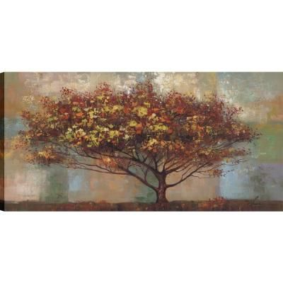 Artmaison Canada Highway Trees Ii Landscape Art Unframed Canvas
