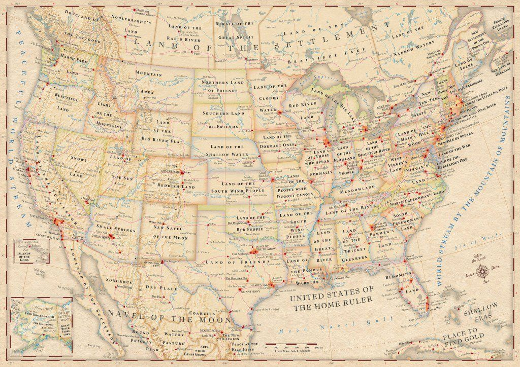 Ever Wonder What Your States Name Means This AllAmerican Map - Complete us map