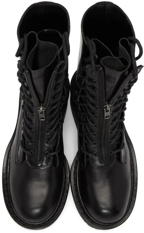 Ann Demeulemeester Black Block Heel Tucson Boots Ssense Leather Block Heels Boots Black Block Heels