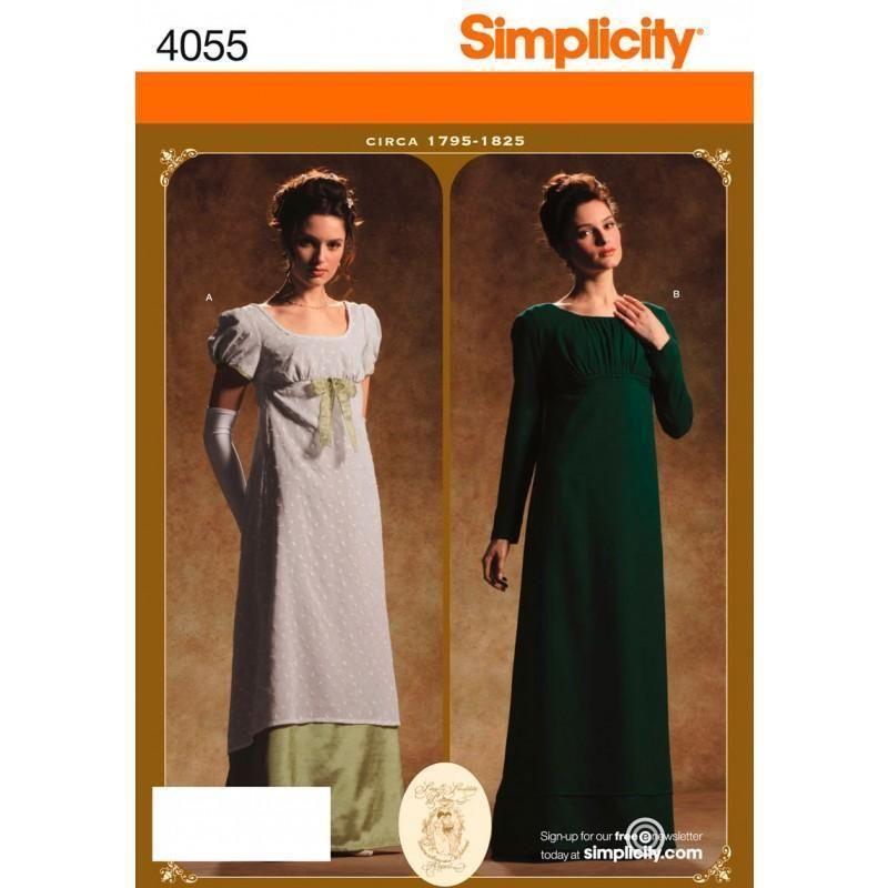 SIMPLICITY NÄHE MUSTER Misses Period Kleid - Kostüme GRÖßE 6 - 20 ...