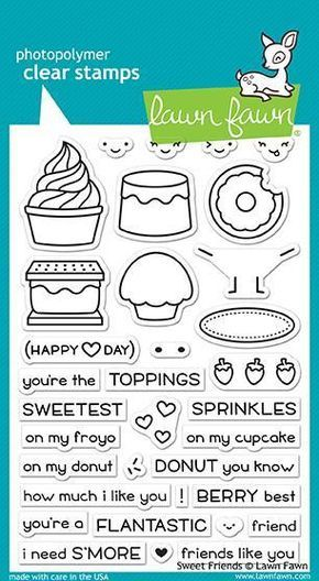 Sweet Friends Clear Stamps 4'x6  by Lawn Fawn is part of lawn Fawn Sweet Friends - 2  Made with care in the USA!