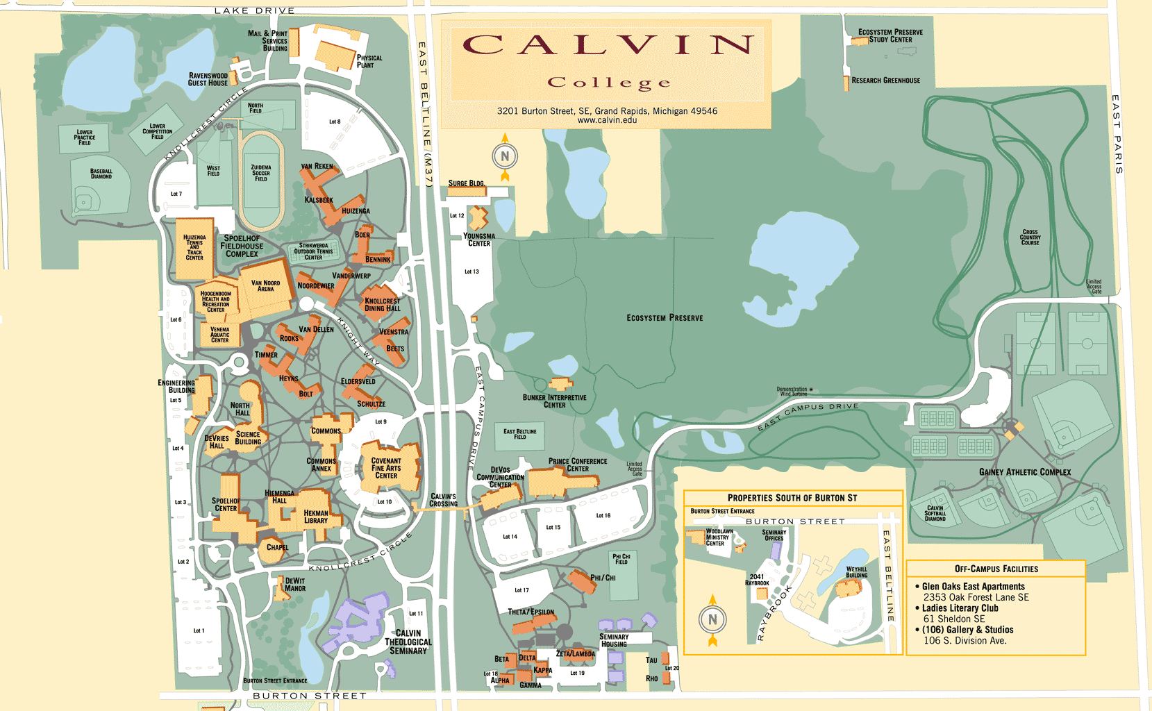 Mid Pacific Institute Campus Map.Map Of Calvin College Campus Maps Pinterest Campus Map