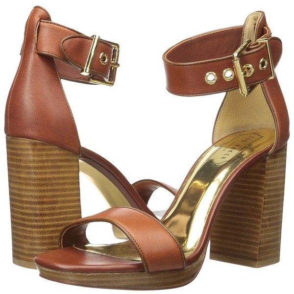 a705ed8bf18b Ted Baker Lorno (Tan Leather) High Heels (€165) ❤ liked on Polyvore  featuring shoes