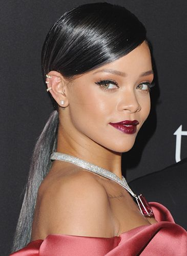 Rhianna's black licorice toned colour melt -  Find out why the pastel ice cream hair trend is here to stay.