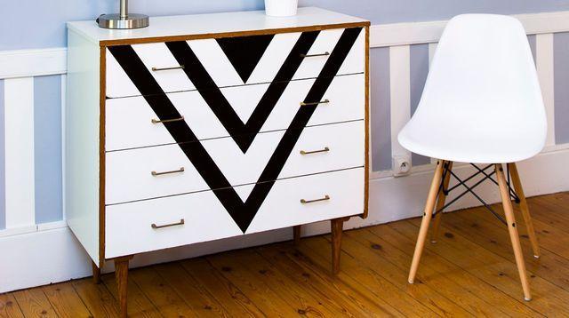 Peinture meuble  relooker son mobilier avec de la couleur Salons - Comment Repeindre Un Meuble En Bois Vernis