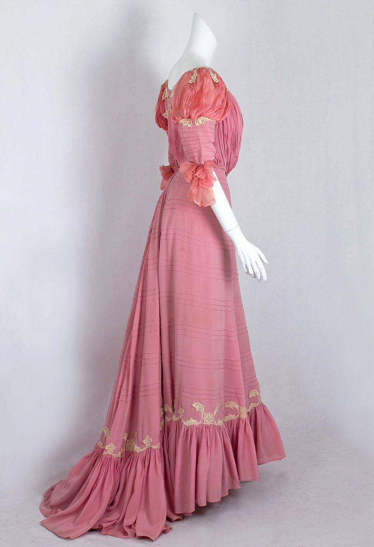 1411 Belle Epoque silk gown at VintageTextile.com   Edwardian ...