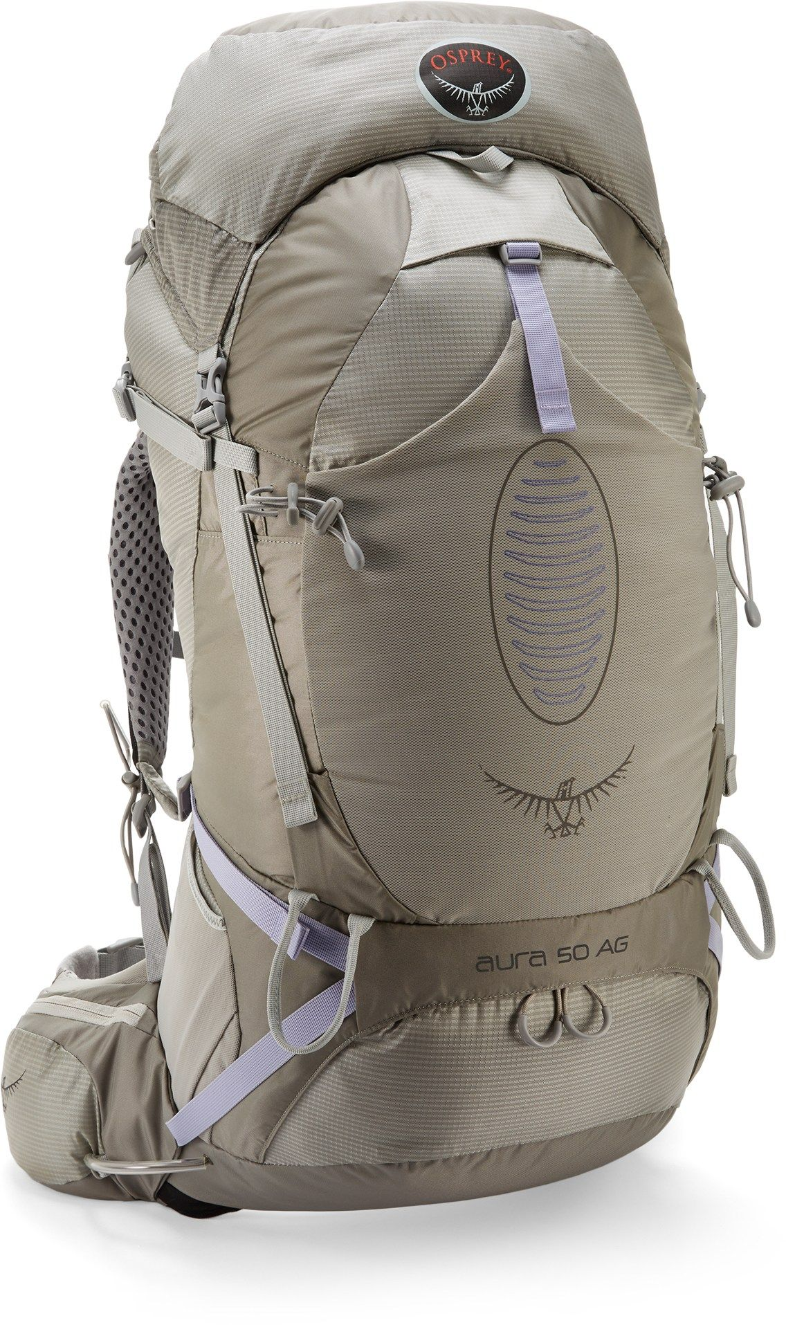 Osprey womens leather gloves - Osprey Women S Aura 50 Ag Ex Pack Silver Streak S