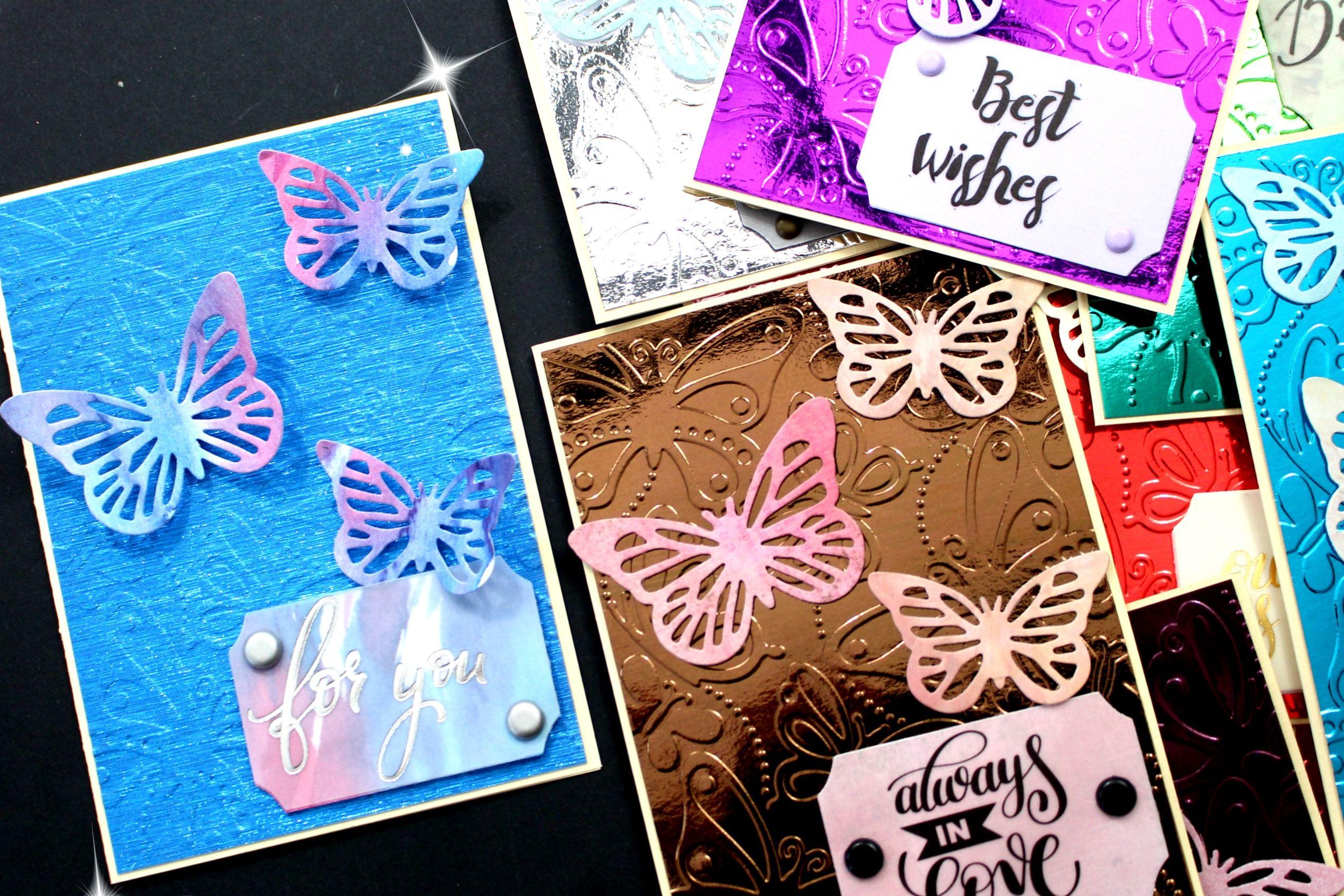 Schmetterlings Karten Basteln Aus Papier Gestalte Dir Mit Meiner
