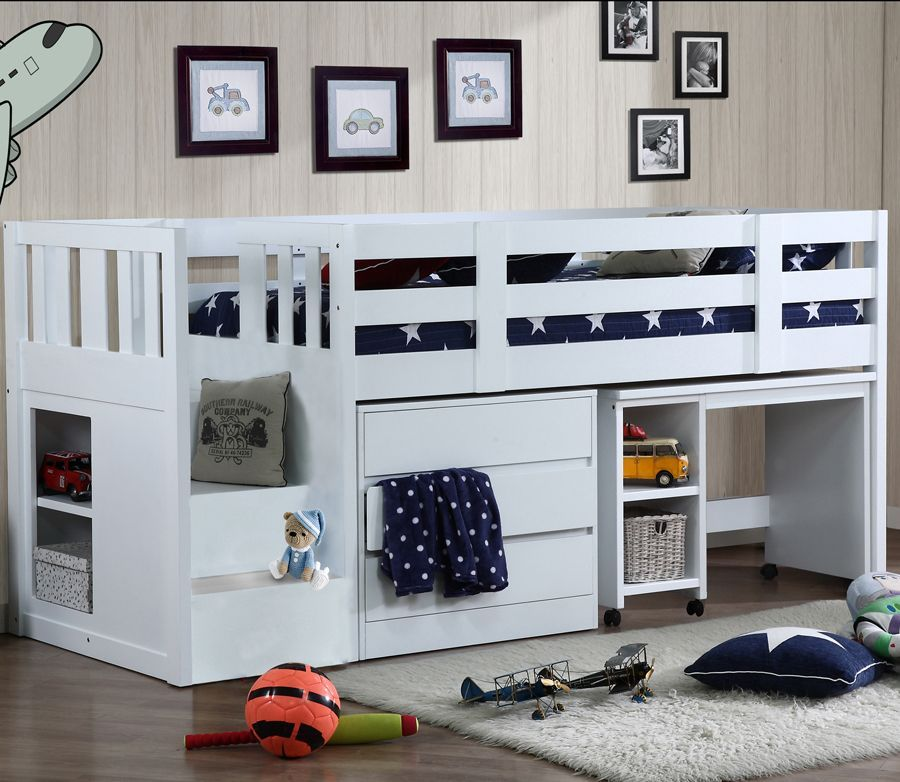 Cabin Bed With Stair Storage Neutron