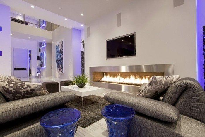 Wohnideen Wohnzimmer Farbige Lichtakzente | Interieur | Pinterest |  Wohnideen Wohnzimmer, Modernes Wohnen Und Farbig