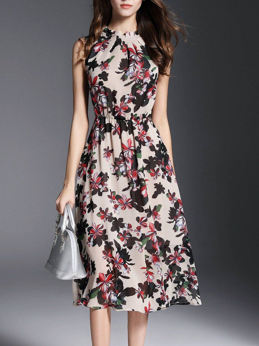 New Stylewe Chiffon Lace Floral Orange Maxi Dress Evening Dress M