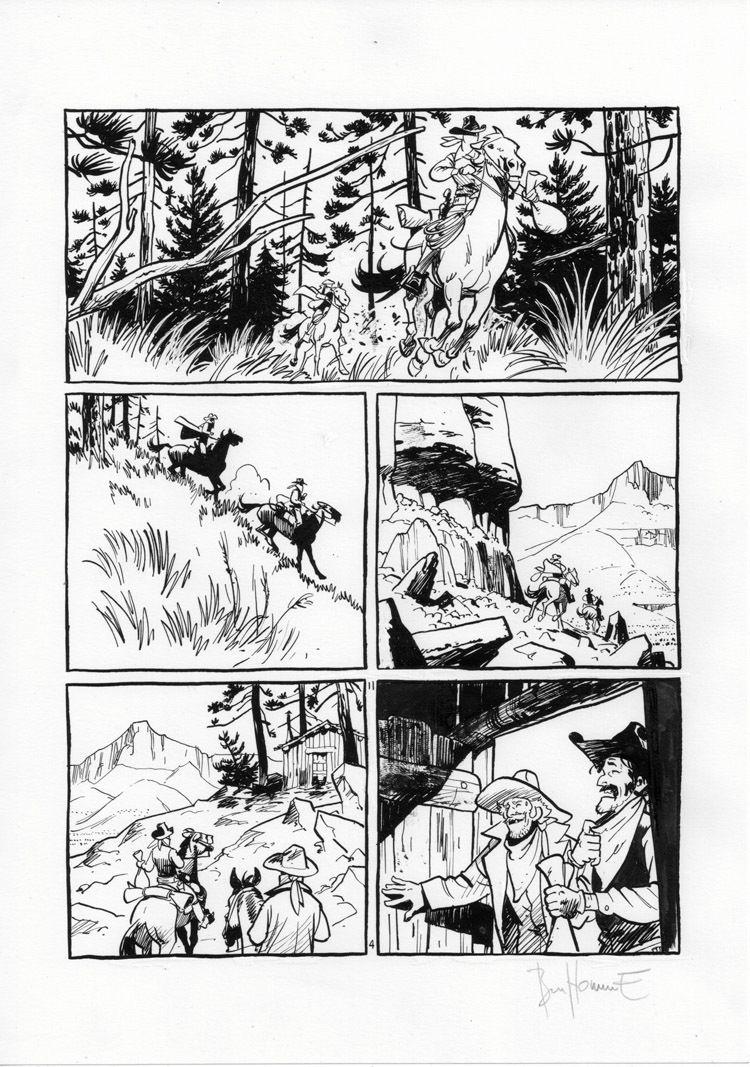 Matthieu Bonhomme Texas Cowboys Planche 2 4 Banda Desenhada Quadrinhos Paginas De Quadrinhos