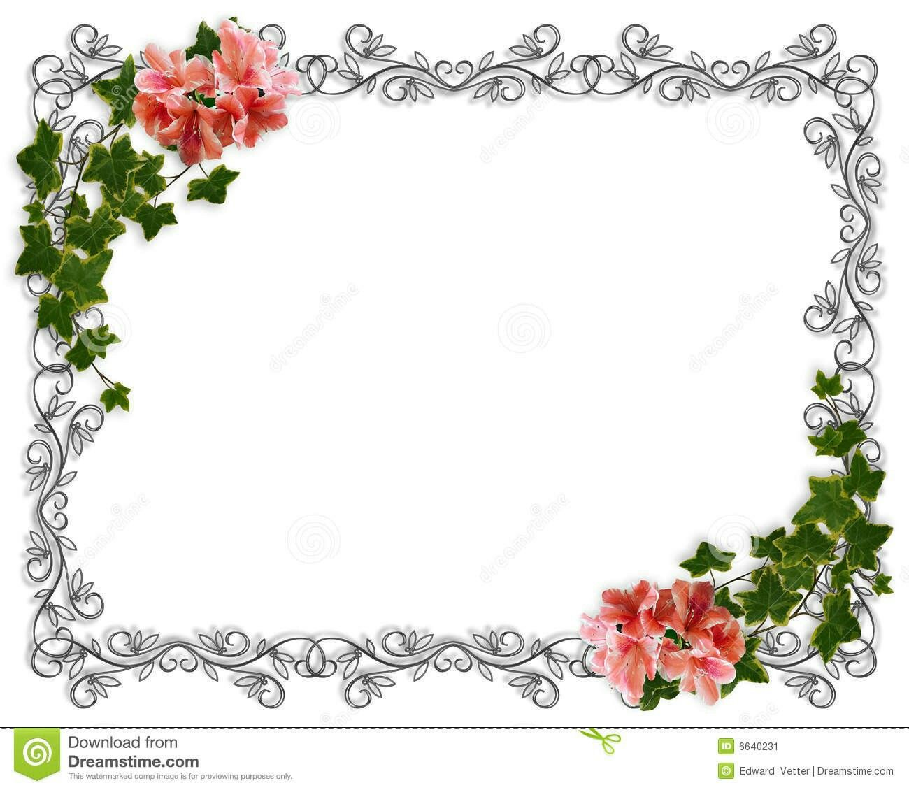 Wedding And Certificate Floral Border Border Clipart