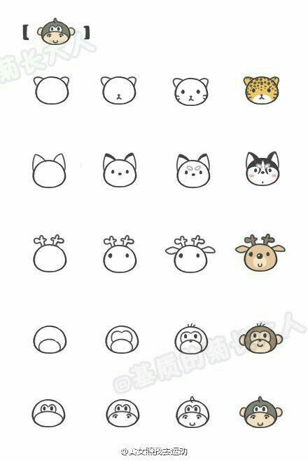 Image of: Doodles More Kawaii Animal Faces howtodraw howtodoodle Pinterest More Kawaii Animal Faces howtodraw howtodoodle Doodles Kawaii