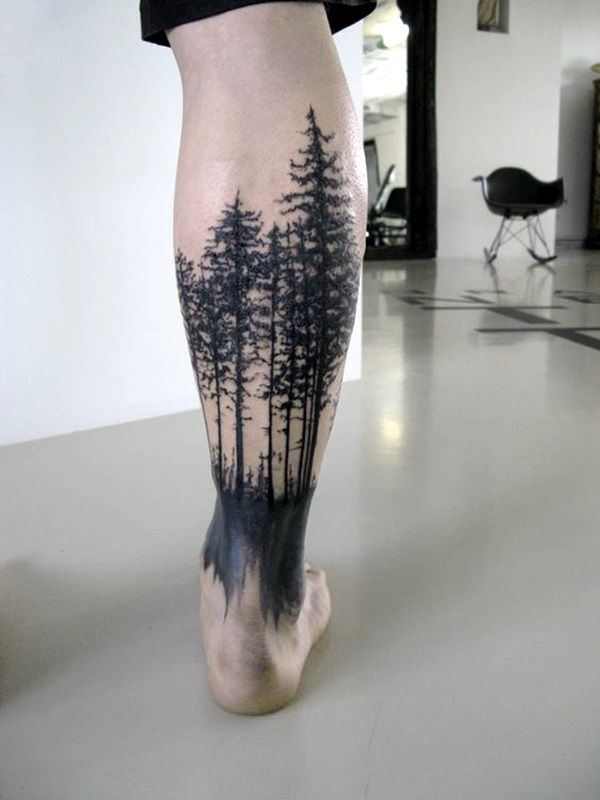 25 Best Places To Get Tattoos On Your Body Tree Leg Tattoo Leg