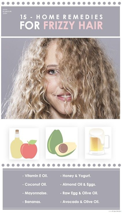 15 Best Home Remedies For Frizzy Hair | Fizzy hair, Home ...