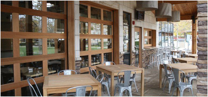 The Restaurant Was Seeking Three Garage Doors That Have Curb Appeal