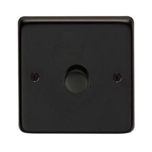 Matt Black Single Dimmer Switch 400w Black Singles Black Electrical Switches