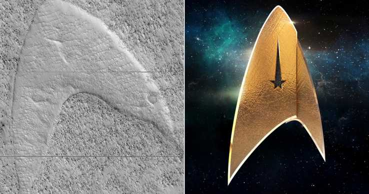 'Star Trek' Insignia Appears on Mars