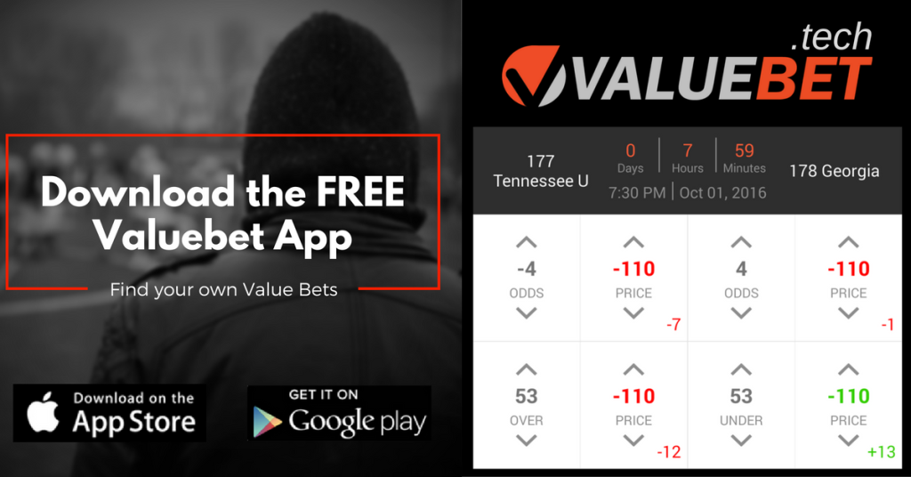 NCAAF Week 5 Valuebet App Sports betting tip Tennessee