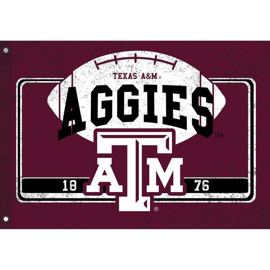 Team Sports America 4 33 Ft W X 3 Ft H Collegiate House Flag Lowes Com In 2020 Aggie Football Texas A M Texas