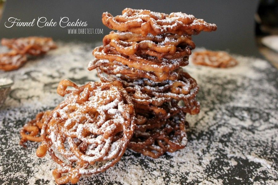 Apple pie funnel cake cookies funnel cake yummy