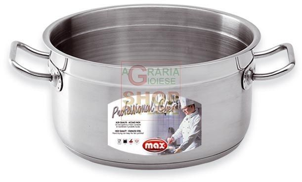 MAX CASSERUOLA 2/M PROFESS.CHEF 18 CM INOX http://www.decariashop.it/max/10126-max-casseruola-2-m-professchef-18-cm-inox-8017365018542.html