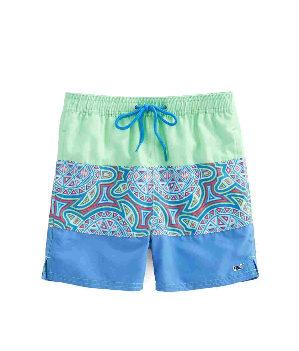 8cc9ae6607650 Vineyard Vines Boys Sea Of Turtles Pieced Bungalow Shorts