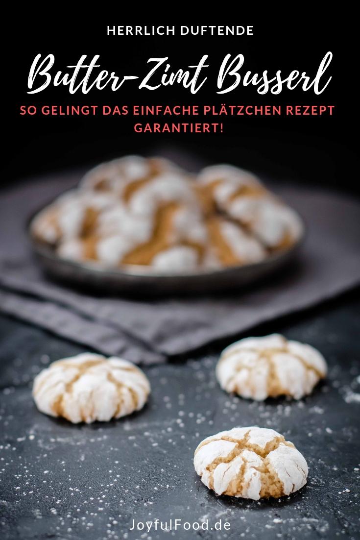 Butter-Zimt Busserl - köstliche Weihnachtsplätzchen | Joyful Food #cinnamonsugarcookies