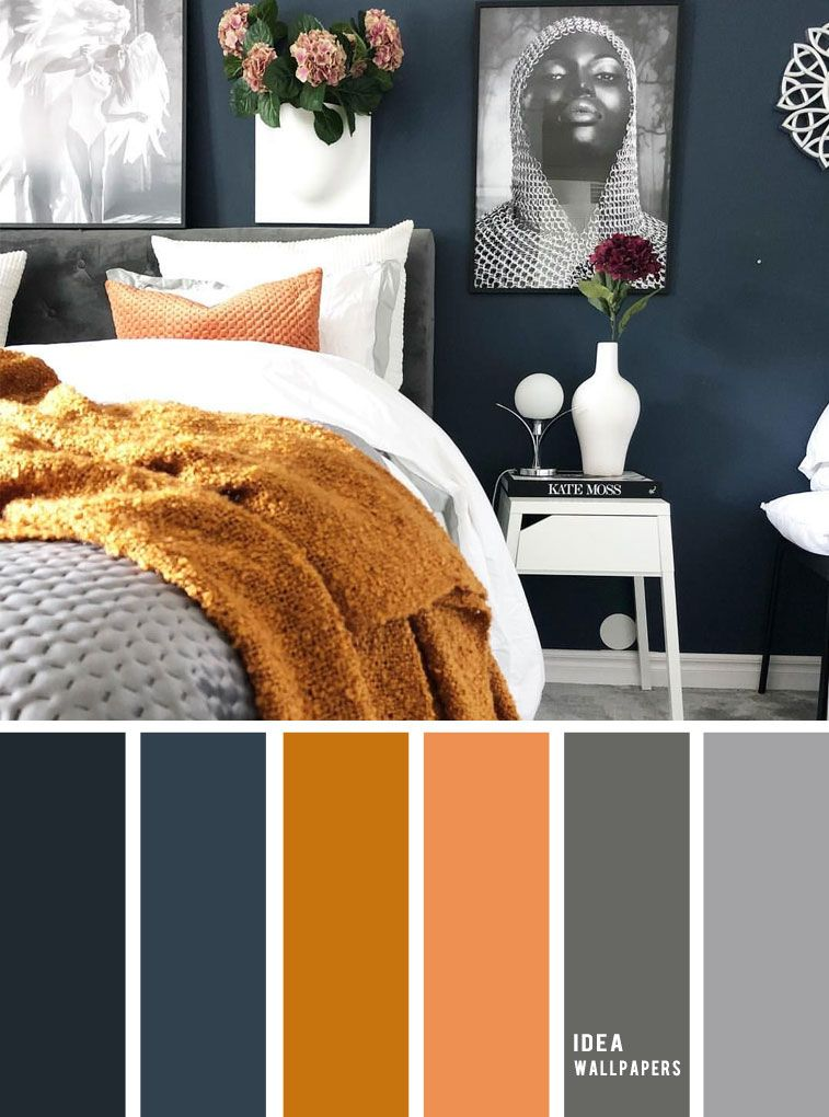 10 Best Color Schemes For Your Bedroom Navy Blue Dark Grey Golden Wheat Bedroo Bedroom Color Schemes Living Room Color Schemes Beautiful Bedroom Colors