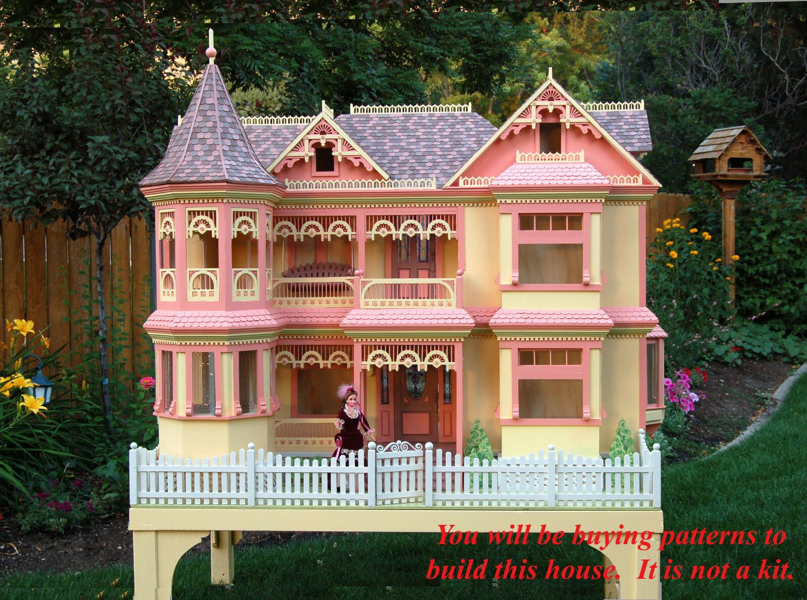 Details about Patterns to cut wood to build a Victorian Barbie doll house