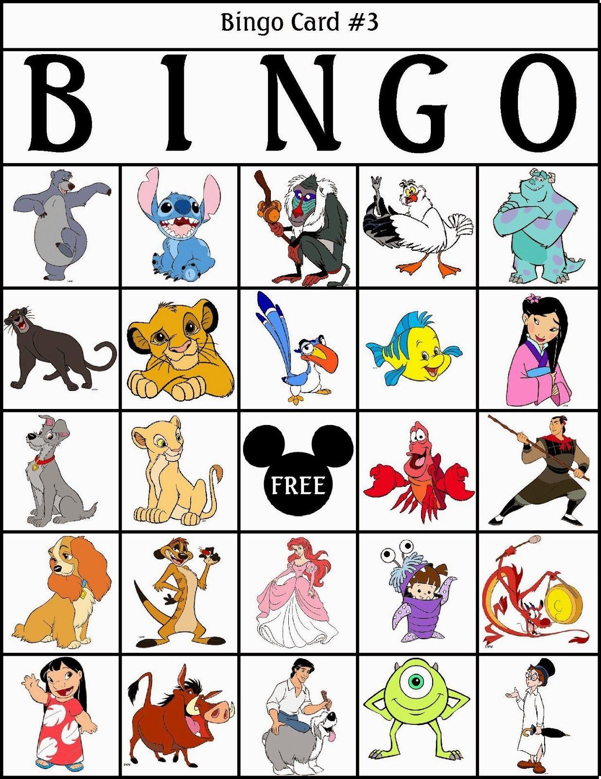 Bingo De Personajes Disney Para Imprimir Gratis Juegos