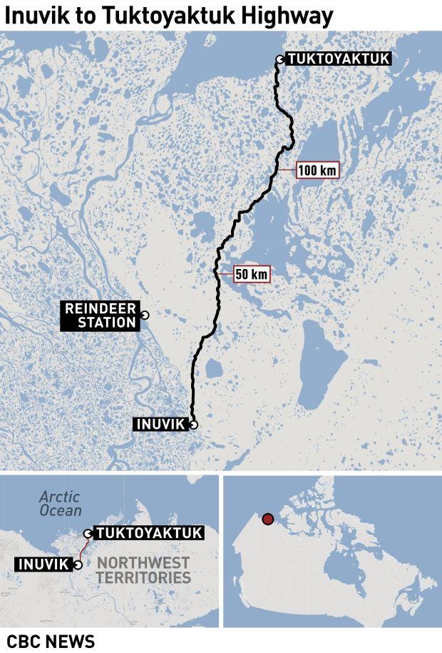 New Arctic coast highway has Tuktoyaktuk residents both \'excited ...