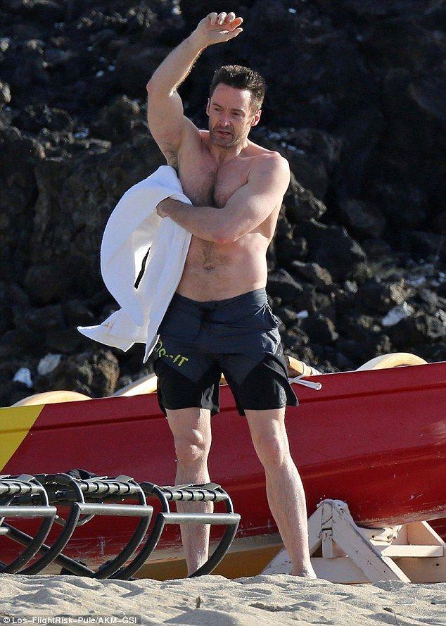 Hugh Jackman Shows Off His Wolverine Body In Hawaii