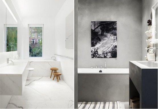 betong och marmor