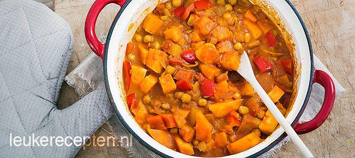 zoete aardappel curry recepten vegetarisch pinterest. Black Bedroom Furniture Sets. Home Design Ideas