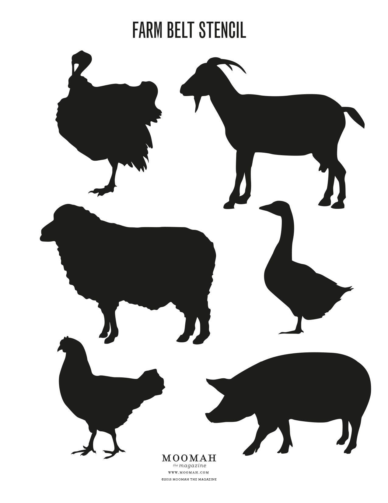 Farmbeltstencil Full Jpg 1 275 1 650 Pixels Animal Stencil Farm Animal Coloring Pages Animal Cutouts